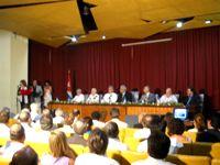 Acto de reapertura de la Biblioteca Nacional de Cuba José Martí