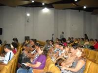 Asamblea General de la Ascubi en el teatro de la Biblioteca Nacional José Martí