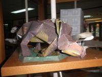 Figura de Dinosaurio con Papercraft