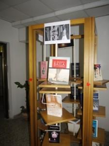 Muestra de libros  en la exposición