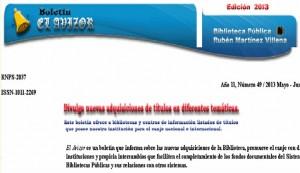 Presentación Boletín  El Avizor