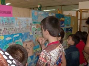 Muestra de las pinturas realizadas por los participantes en el concurso